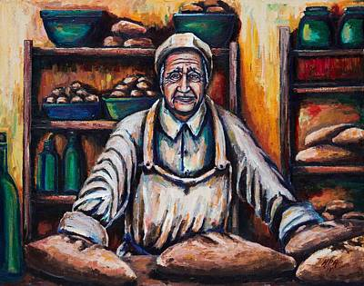 Italian Bakery Painting - The Proud Baker by Kevin Richard