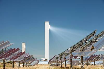 The Ps20 Solar Thermal Tower Art Print by Ashley Cooper