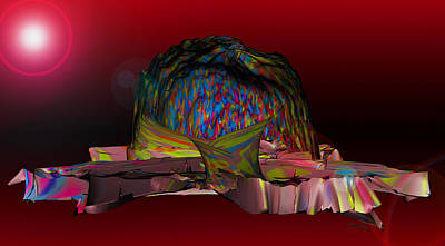 Rhythm And Blues Digital Art - The Psychedelic Hat Island C 11 by Sir Josef - Social Critic - ART