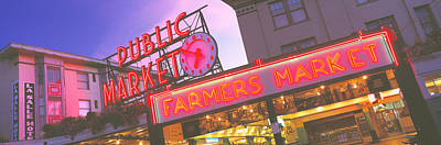 Clock Shop Photograph - The Public Market Seattle Wa Usa by Panoramic Images