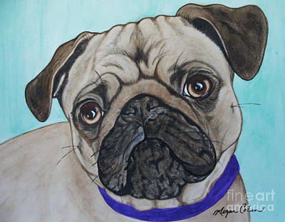Painting - The Pug by Megan Cohen
