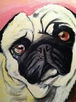 The Pug Art Print by Melissa Bollen