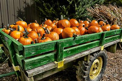 Wagon Wheels Photograph - The Pumpkin Cart by Mark Miller