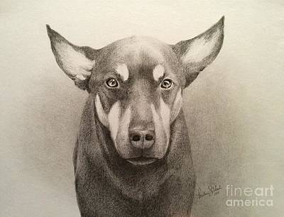 Rottweiler Puppy Drawing - The Puppy by Melissa Unruh