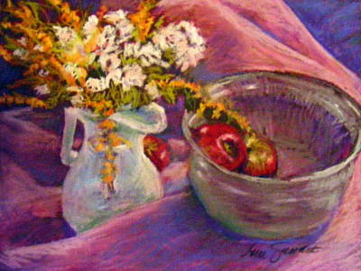 Pastel - The Purple Bowl by Lenore Gaudet