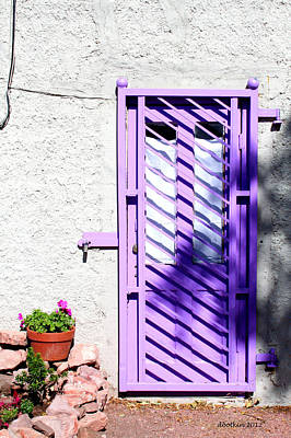 Photograph - The Purple Door by Dick Botkin