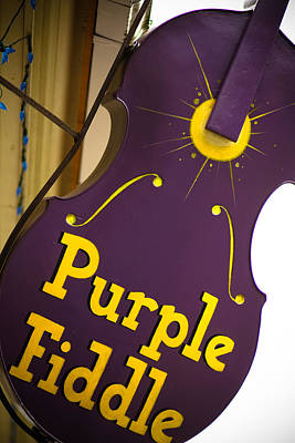 Fiddle Photograph - The Purple Fiddle by Shane Holsclaw