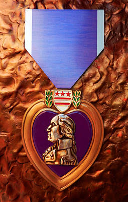 Photograph - The Purple Heart by Paul Mashburn