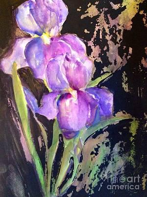 Grace Kelly - The Purple Iris by Sherry Harradence