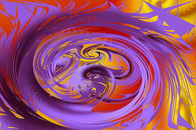 Digital Art - The Purple Mantle by rd Erickson