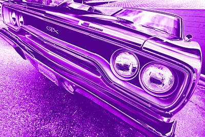 Photograph - The Purple People Eater - 1970 Plymouth Gtx by Gordon Dean II