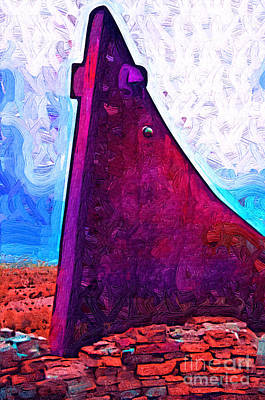 Digital Art - The Purple Pink Wedge by Kirt Tisdale