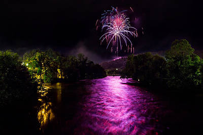 Photograph - The Purple River by Aaron Morgan