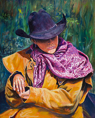 Painting - The Purple Scarf by Page Holland
