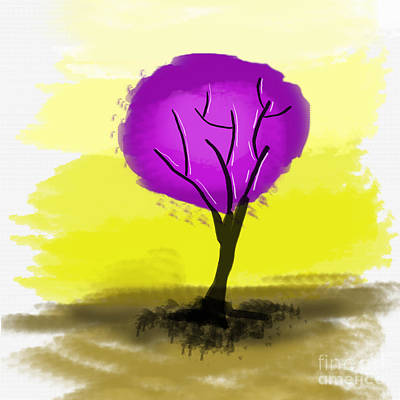 Digital Art - The Purple Tree by Art Photography