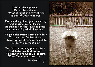 Photograph - The Puzzle by Ron Haist