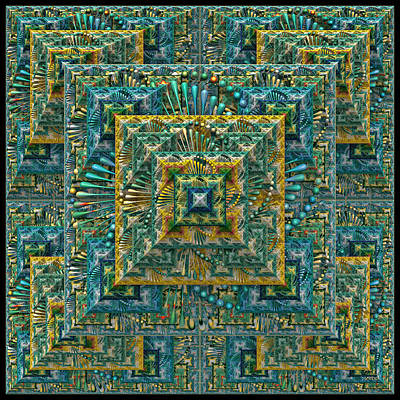 Digital Art - The Pyramid - A Fractal Artifact by Manny Lorenzo