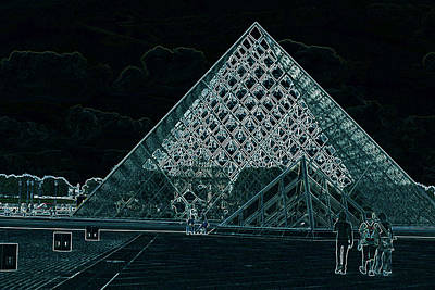 Pop Art - The Pyramid by I.M. Pei by Carl Purcell