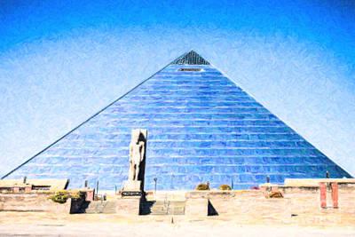 Digital Art - The Pyramid Memphis Tn Usa by Liz Leyden