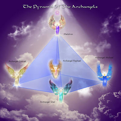Hades Digital Art - The Pyramid Of The Archangels by Endre Balogh