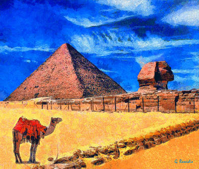 Pyramids Painting - The Pyramids by George Rossidis
