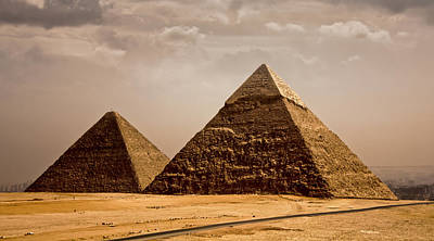 Photograph - The Pyramids Of Giza by Anthony Doudt