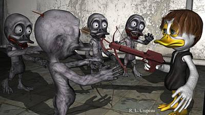 Digital Art - The Quacking Dead by Robert Crepeau