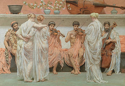 The Quartet A Painters Tribute To The Art Of Music Art Print by Albert Moore