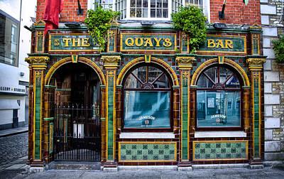 Dublin Digital Art - The Quays Bar - Dublin Ireland by Bill Cannon