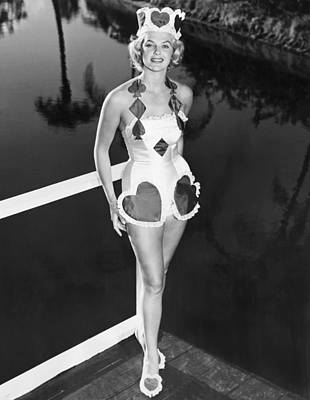 Front View Photograph - The Queen Of Hearts by Underwood Archives