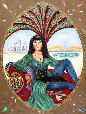 Archetype Painting - The Queen Of Sheba by Karin  Leonard