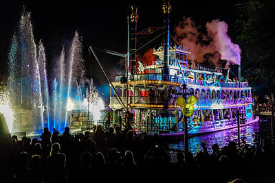 Photograph - The Mark Twain Disneyland Steamboat  by Scott Campbell