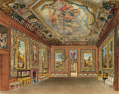 The Queens Drawing Room, Windsor Art Print by Charles Wild