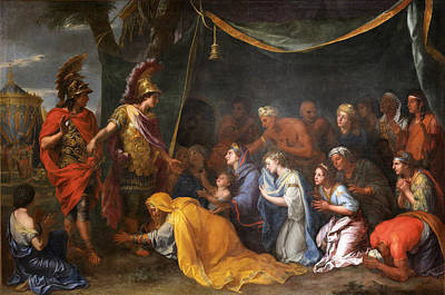 The Queens Of Persia At The Feet Of Alexander Art Print by Charles Le Brun