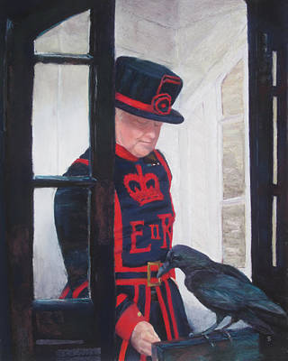 The Queen's Ravenmaster Original by Stacey David