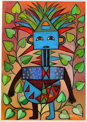 Contemporary Ethnic Artist Painting - The Question by Ephrem Kouakou