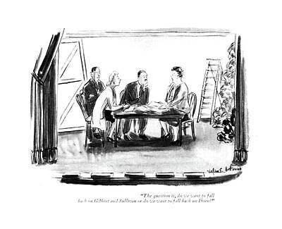 Production Drawing - The Question by Helen E. Hokinson