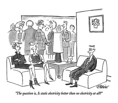 Electricity Drawing - The Question by Peter Steiner