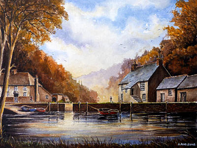 Painting - The Quiet Life Pont Cornwall by Andrew Read