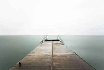 Ladder Photograph - The Quiet Place by Sebastian Wahlhuetter