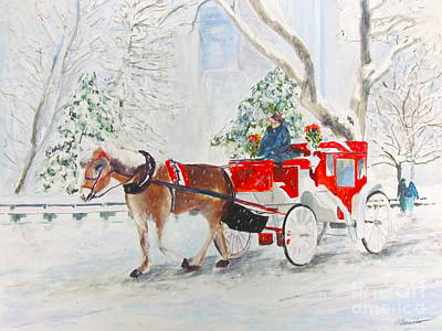 Horse And Buggy Painting - The Quiet Ride by Beth Saffer