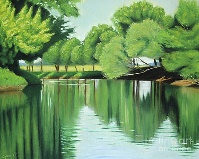 Pastel - The Quiet River Again by Robert Coppen