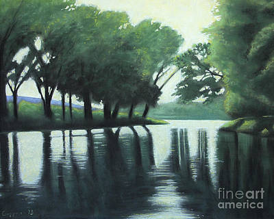 Pastel - The Quiet River by Robert Coppen