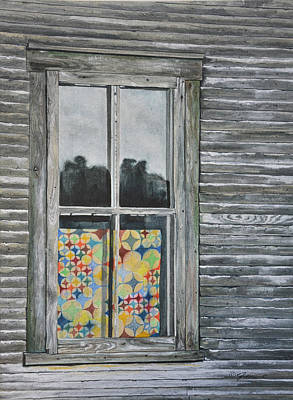 Painting - The Quilt by Jean Sumption