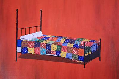 Quilt Painting - The Quilt by Jennifer Lynch