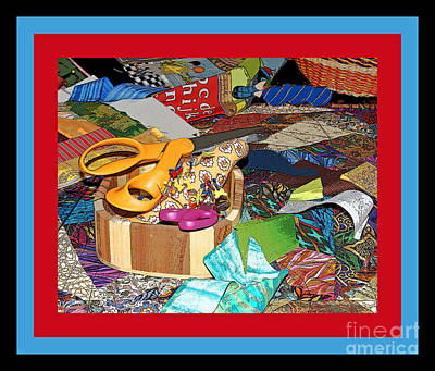 The Quilters Table Art Print by Margie Avellino