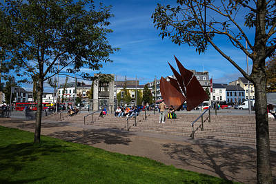 Terracotta Photograph - The Quincentennial Sails Sculpture by Panoramic Images