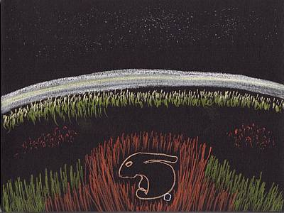 Drawing - The Rabbit Sleeps At Night by Jim Taylor