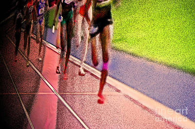 Avant Garde Mixed Media - The Race By Jrr by First Star Art