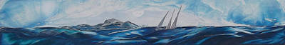 Wyland Painting - The Race Is On by Danita Cole
